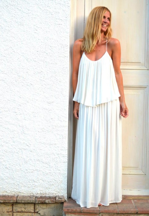 Filippa Lagerback white dress