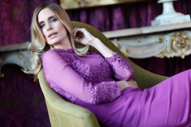 Filippa Lagerback purple dress fashion