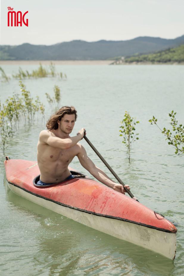 Alessandro Gavarini in canoa