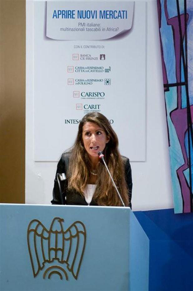 Elena Veschi parla a confindustria