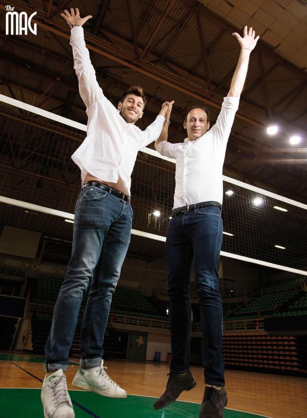 Luca e Andrea Sartoretti saltano sotto reta