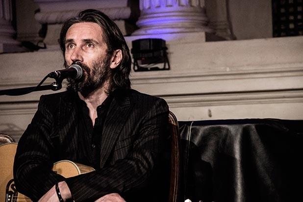 Cristiano Godano plays the guitar