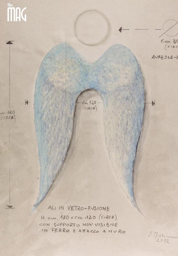 Elio Mariucci - bozzetto ali angelo