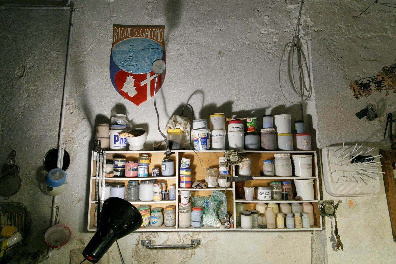 Dettaglio del laboratorio di Francesco Fantini