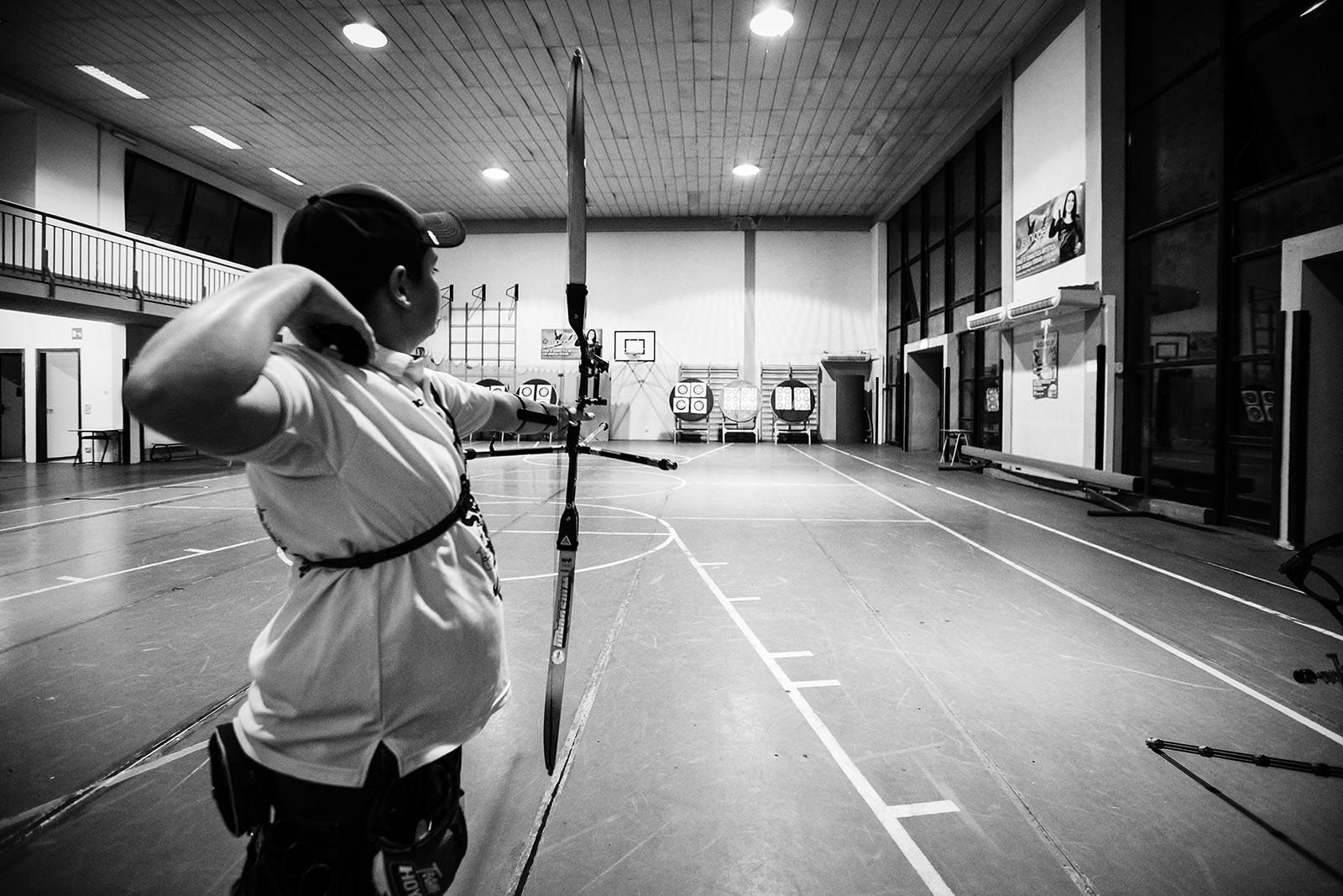 Arcieri tifernum - allenamento in palestra a Città di Castello