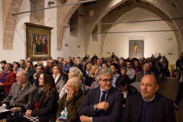Il pubblico intervenuto all'incontro con Brunello Cucinelli