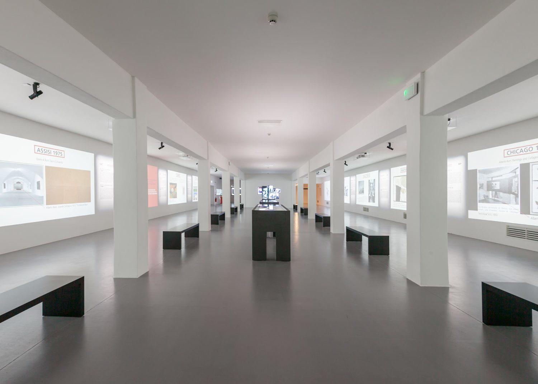 panoramica dell'area multimediale Burri Documenta