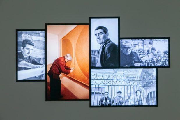 Burri Documenta - gli schermi interattivi con foto storiche di Alberto Burri