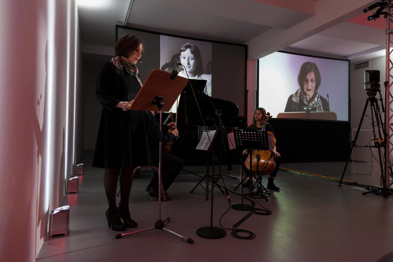 Burri Documenta - le letture durante il concerto