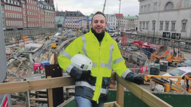 Leonardo Perugini sorride a Copenhagen