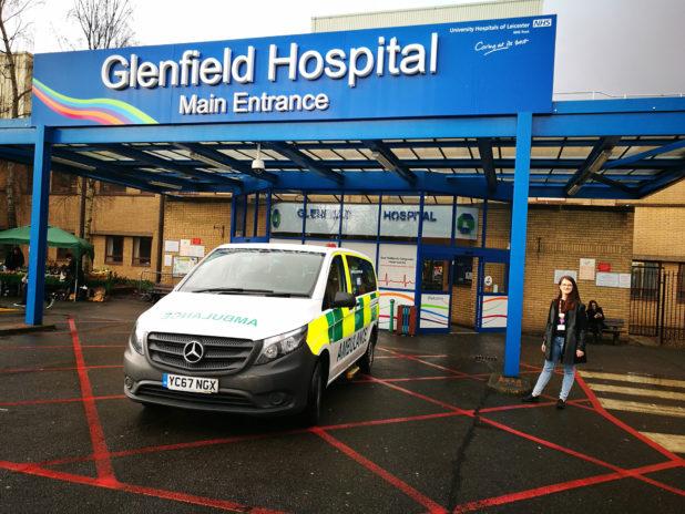 Sofia Robellini al Glenfield Hospital di Leicester