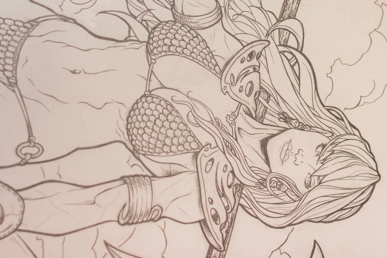 Nero Cavargini - particolare dei fumetti