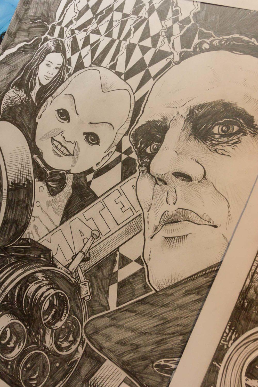Nero Cavargini - particolare dei fumetti Dario Argento