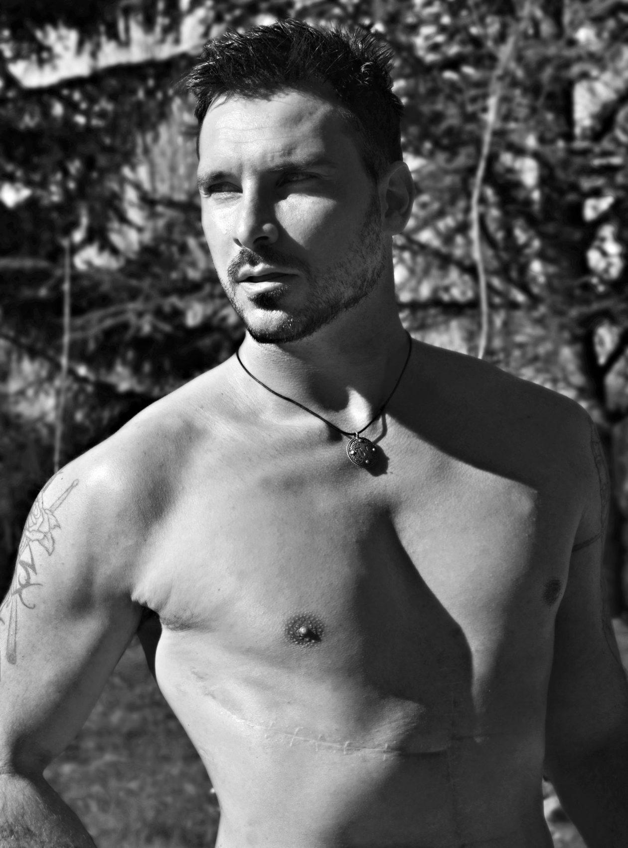 Paul Pedana ritratto in bianco e nero