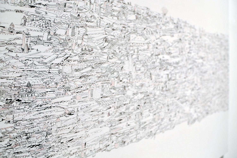 opera con penna biro di Giuseppe Stampone