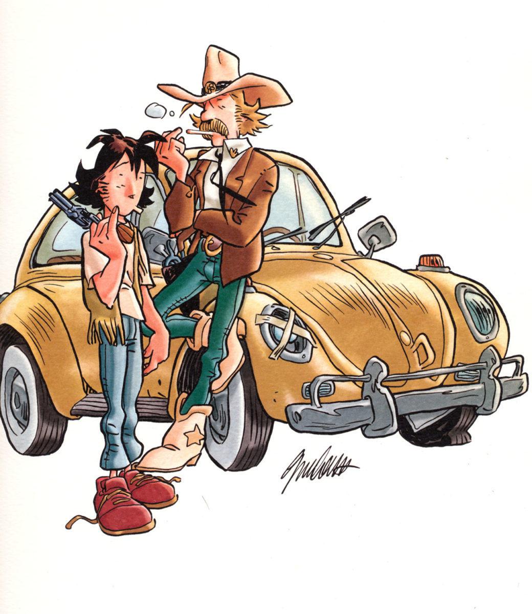 i due personaggi del poliziesco Altai & Jonson creati da Giorgio Cavazzano
