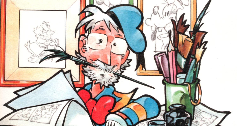 Giorgio Cavazzano si disegna nei panni di Paperino