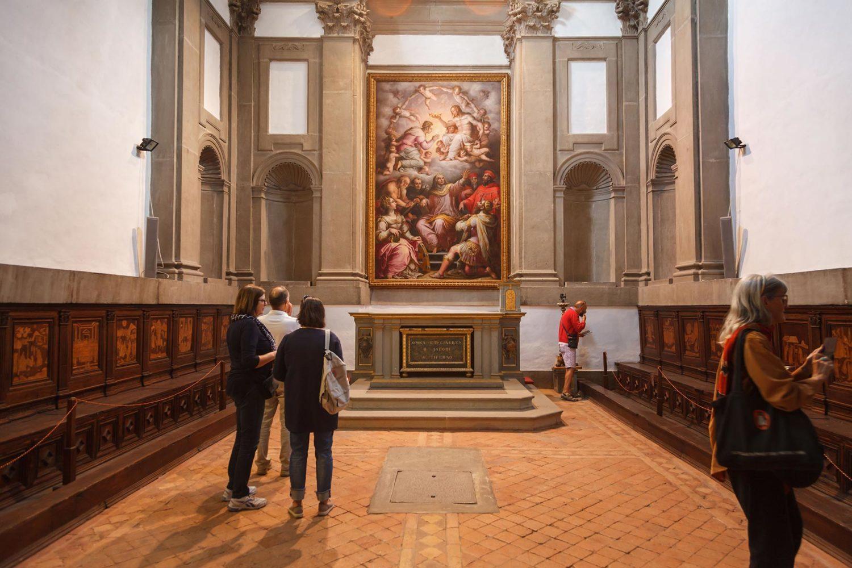La chiesa di San Francesco - la cappella Vitelli disegnata dal Vasari
