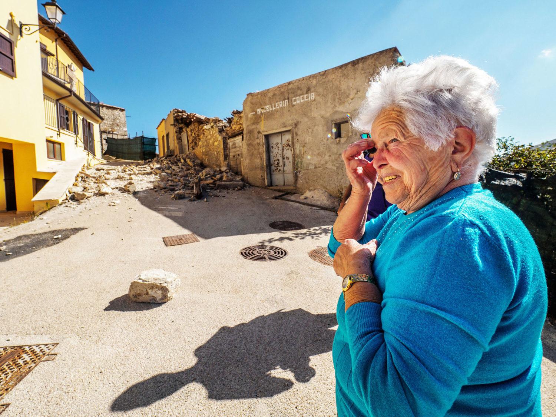 la devastazione del terremoto in Umbria - Castelluccio di Norcia
