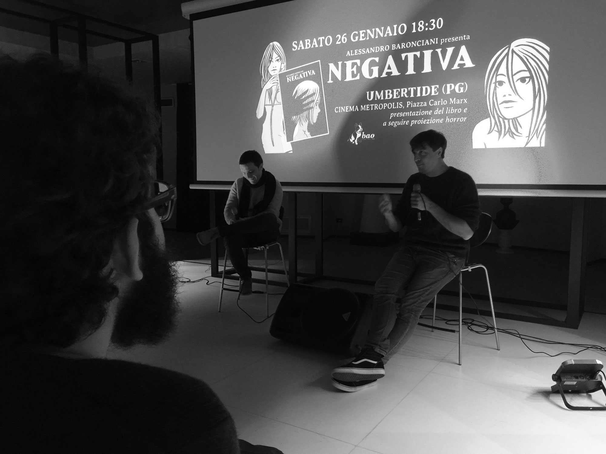 Alessandro Baronciani parla del suo libro NEGATIVA al cinema Metropolis di Umbertide