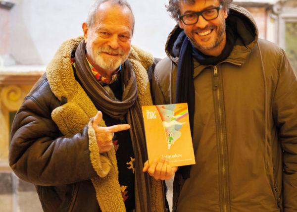 """Terry Gilliam e Andrea Luccioli alla presentazione del film """"L'uomo che uccise Don Chisciotte"""""""