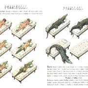 trasformazione in una illustrazione del Codex Seraphinianus