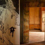 L'interno della mostra dedicata a Dino Battaglia a Città di Castello